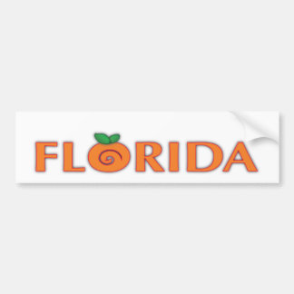 FLORIDA Orange Text Bumper Sticker