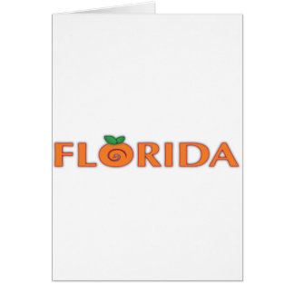 FLORIDA Orange Text Card