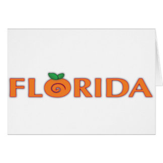 FLORIDA Orange Text Greeting Card