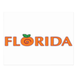 FLORIDA Orange Text Post Card
