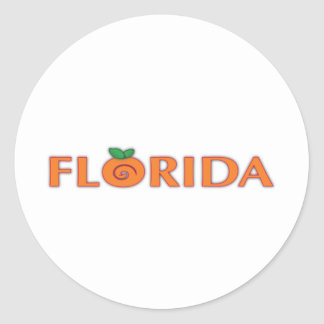 FLORIDA Orange Text Stickers
