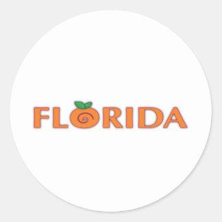 FLORIDA Orange Text Stickers