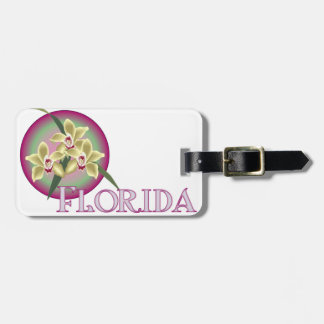 Florida Orchid Trio Luggage Tags