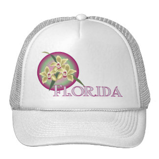 Florida Orchid Trio Mesh Hats