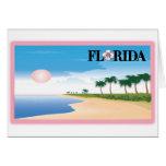 Florida Pink Hibiscus Postcard Beach Scene cards