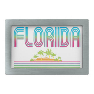 FLORIDA Retro Neon Palm Trees Belt Buckle