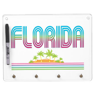 FLORIDA Retro Neon Palm Trees Dry Erase Boards