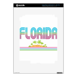 FLORIDA Retro Neon Palm Trees iPad 3 Skins