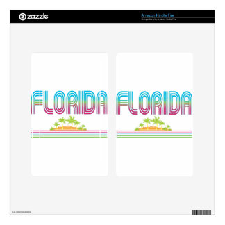 FLORIDA Retro Neon Palm Trees Kindle Fire Decals