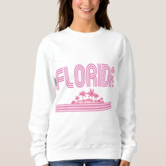 Florida Retro Neon Palm Trees Pink Sweatshirt