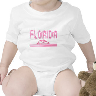 Florida Retro Neon Palm Trees Pink T-shirts