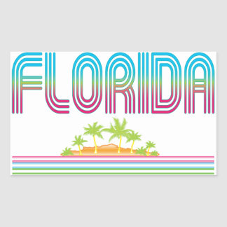 FLORIDA Retro Neon Palm Trees Stickers