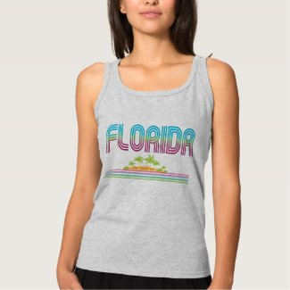 FLORIDA Retro Neon Palm Trees Tshirt