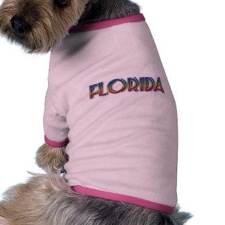 Florida Seaside - Rainbow Text Dog Tee