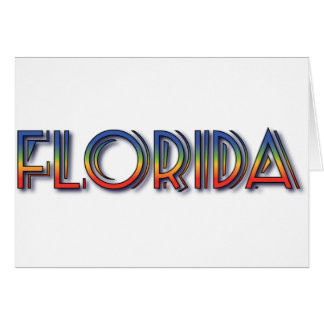 Florida Seaside - Rainbow Text Greeting Cards