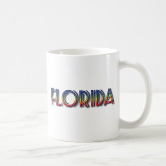 Florida Seaside - Rainbow Text Mugs