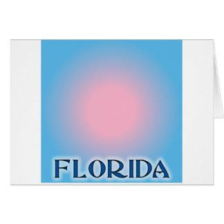 Florida Sunset Pink To Blue Greeting Card