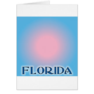 Florida Sunset Pink To Blue Greeting Cards
