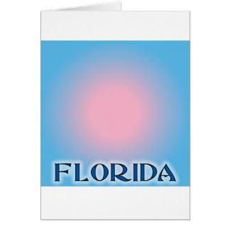 Florida Sunset Pink To Blue Greeting Cards