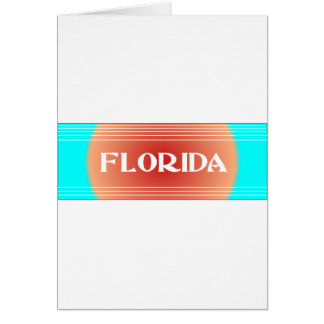 Florida Sunset Turquoise and Peach Greeting Card