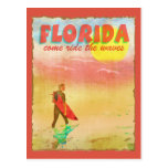 Florida Surfer Postcard