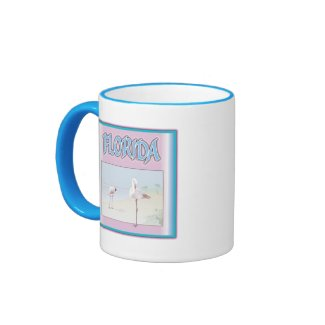 Florida White Flamingos Coffee Mug