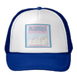 Florida White Flamingos hats