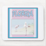 Florida White Flamingos mousepads