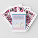 Florida White Flamingos Playing Cards playing cards