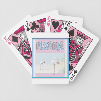 Florida White Flamingos Playing Cards