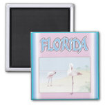 Florida White Flamingos magnets