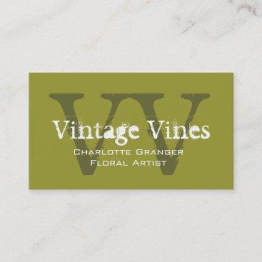 Florist Customizable Business Card Monograms