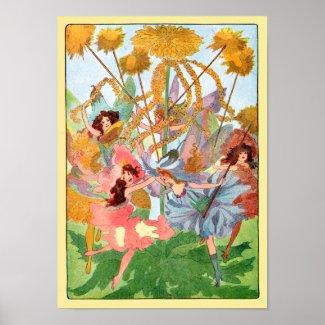 Flower Fairy Play Poster Print print
