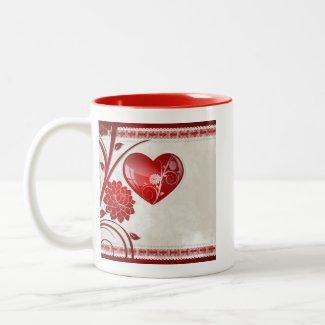 Flower Heart mug