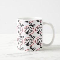 Flower Ladybug Coffee Mug