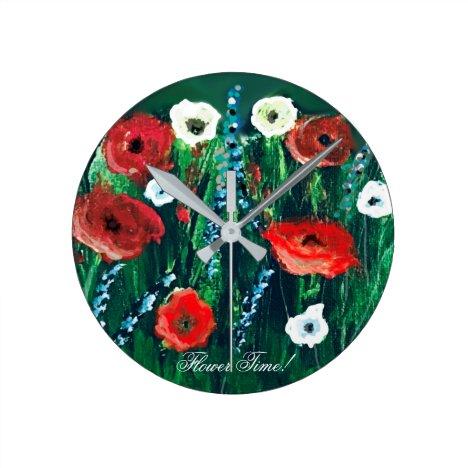 Flower Time Beautiful Wildflower Acrylic Painting