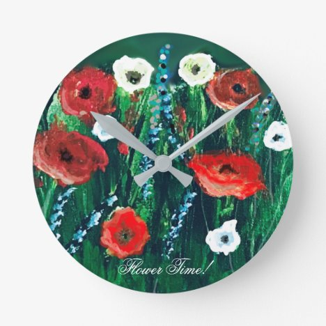 Flower Time Beautiful Wildflower Acrylic Painting