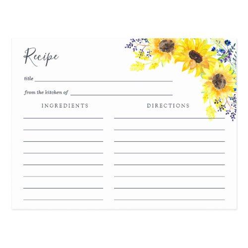 Flowerfields Recipe Card