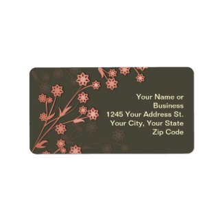flowers elegant design address label