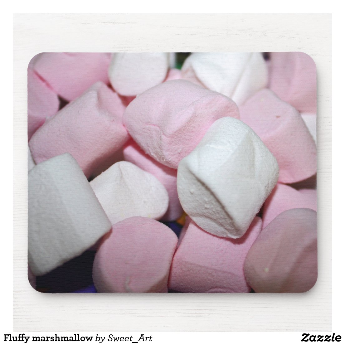 Fluffy marshmallow mouse pad