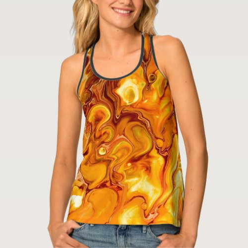 Fluid Art Pour Abstract Tank Top