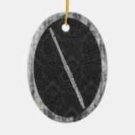 Flute Oval Ornament Pendant