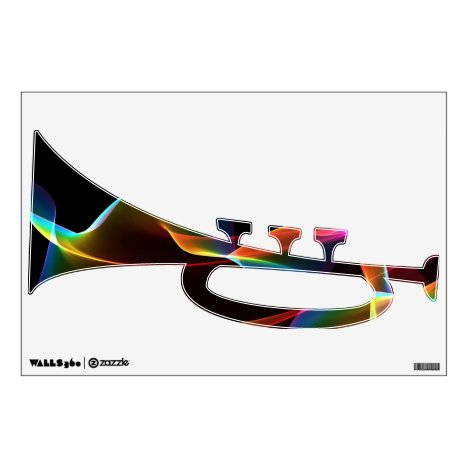 Fluted Cosmic Rainbow, Abstract Winds Wall Decal
