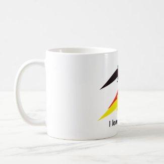Flying Birds in German Colours Mug mug