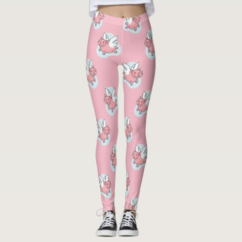 Flying Pigs L Chinese New Year 2019 Choose Color Leggings
