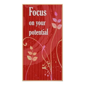 Focus-Positive Attitude Motivational Poster print