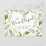 Foliage Heart Botanical Wedding Elopement Announcement