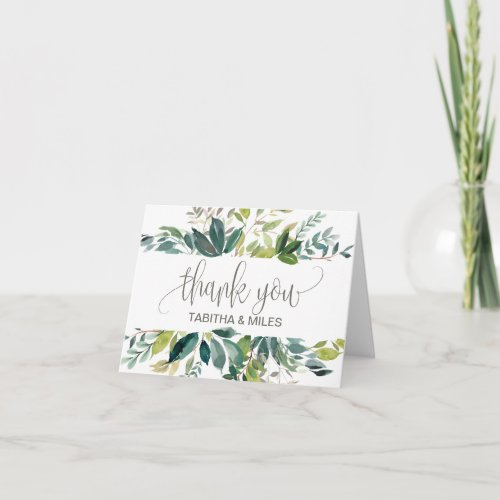 Foliage Wedding Thank You Card
