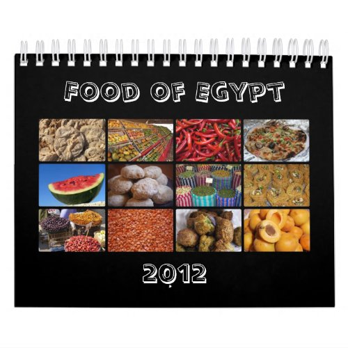 Food of Egypt 2012 Calendar calendar