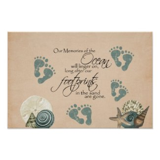 Foot Prints In The Sand Value Poster Paper (Matte)